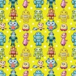 Seamless robot pattern — Stock Vector #7863215