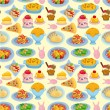 Cartoon Italian food seamless pattern — Stock Vector