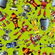Seamless robot pattern — Stock Vector #7863251