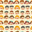 Stock Vector: Seamless child face pattern