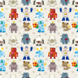 Seamless Robot pattern — Stock Vector