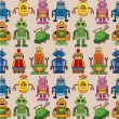 Seamless robot pattern — Stock Vector #7863357