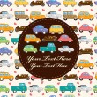 Vetorial Stock : Cartoon retro car card
