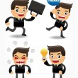 Stock Vector: Set of funny cartoon office worker