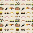 Seamless Japanese food pattern - Stock Vector