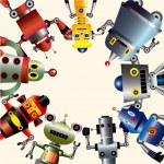 Robot card — Stock Vector #7863468