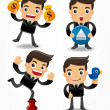 Set of funny cartoon office worker — Stock Vector #7863485