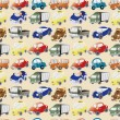 Seamless cartoon car pattern — Stock Vector