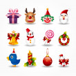 Stock Vector: Christmas icons set. Vector