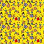 Seamless cartoon circus clown pattern — Stock Vector #7863611