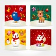 Cute christmas card — Vector de stock