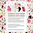 Cartoon wedding card — Vector de stock #7863651