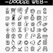 Royalty-Free Stock Vector Image: Web doodle icon set