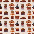 Cartoon Chinese house seamless pattern — Stock Vector #7863667