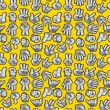 Cartoon Hands seamless pattern - Stock Vector