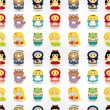Cartoon story seamless pattern — Imagen vectorial