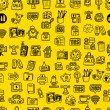 Hand draw web icons seamless pattern — Vettoriali Stock