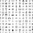 Hand draw web icons seamless patternhand draw web icons seamless pattern — Imagen vectorial