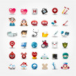 Royalty-Free Stock ベクターイメージ: Medical and Hospital icons collection,vector