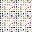 Seamless web icons pattern. Vector illustration. — Vector de stock