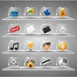 Website Internet Icons ,Transparent Glass Button - 