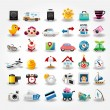 Stock Vector: Travel icons symbol collection. Vector illustration