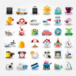 Royalty-Free Stock Vectorielle: Travel icons symbol collection. Vector illustration