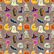 Royalty-Free Stock Vector Image: Cartoon Halloween seamless pattern
