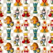 Royalty-Free Stock Vector Image: Cartoon chess seamless pattern