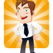 Stock Vector: Funny cartoon office worker