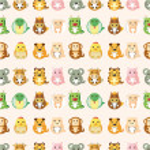 Chinese Zodiac animal seamless pattern — Stock Vector