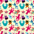 Seamless monster pattern — Image vectorielle