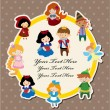Vector de stock : Cartoon story card
