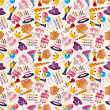 Seamless birthday pattern — Stockvectorbeeld