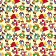 Cartoon superman seamless pattern - Imagens vectoriais em stock