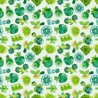 Seamless eco icon pattern - Stockvektor