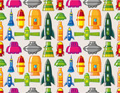 Seamless Spacecraft pattern — Stock Vector