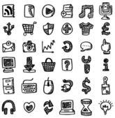 Hand draw web icon — Stock Vector