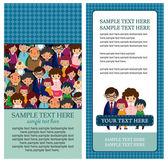 Family card family card — Stockvektor
