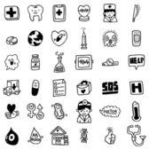 Cartoon hospital icon — Stock Vector