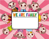 Family card — Vector de stock