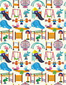 Seamless park playground pattern — Stock Vector