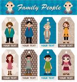 Familie karte — Stockvektor