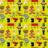 Seamless circus pattern — Stock Vector