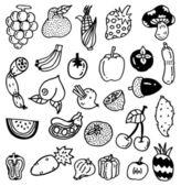Hand draw vegetable — Stock Vector