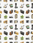 Seamless camera pattern — Stock Vector