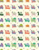 Seamless tortoise pattern — Stock Vector