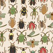 Seamless bug pattern — Stock Vector