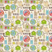 Seamless eco pattern — Stock Vector