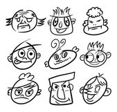 Ruční kreslení karikatury hlavy ikonu — Stock vektor